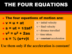 EQUATIONS OF MOTION SUVAT MEGA PACK