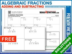 GCSE Revision (Algebraic Fractions: Adding and Subtracting)