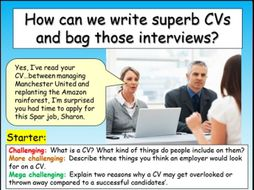 Writing CVs : Careers + Employment