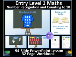 Entry Level Maths: Number Recognition Counting to 10