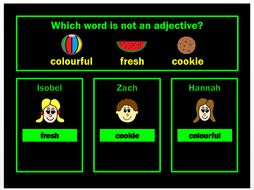 Adjectives PPT Powerpoint Game by Grammatickx