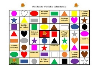 Farben und Formen (Colors and Shapes in German) Schnecke Snail game