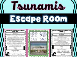 Tsunamis Escape Room! Natural Disasters - Earth Science - NO PREP, PRINT & GO!