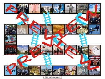 U. S. Government and Citizenship Chutes and Ladders Board Game