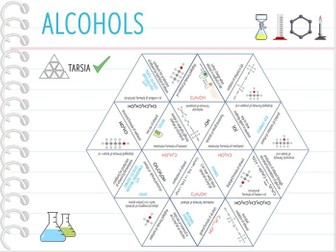 IGCSE Chemistry Topic 26: Alcohols - Tarsia  (KS4)