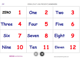 Match 0-20 words and numbers - dominoes