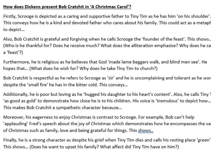 bob cratchit essay