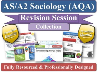 Sociology Revision (KS5) - CRIME & DEVIANCE - 4 Revision Sessions for AS/A2 AQA Sociology