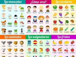 Spanish vocabulary posters for KS3 and KS4