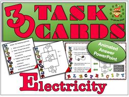 Current Electricity 30 Task Cards KS3