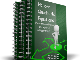 Harder Quadratic Equations animated PowerPoint GCSE