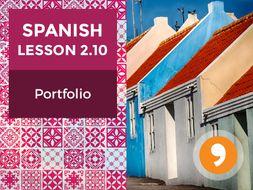 Spanish Lesson 2.10: Los Hogares - Portfolio