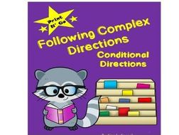 conditional directions following complex directions by simplyspeechy teaching resources. Black Bedroom Furniture Sets. Home Design Ideas
