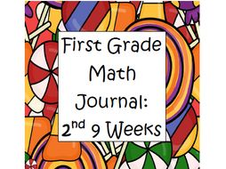 Math Journal First Grade- Second 9 Weeks