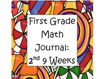 Math Journal First Grade- Second 9 Weeks
