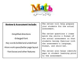 Grade 3, Math Module 6 REVIEW & ASSESSMENT w/Ans keys (printables & Smart Board)
