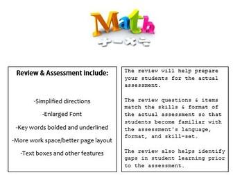 Grade 3, Math Module 6 REVIEW & ASSESSMENT w/Ans keys (printables & Smart Board)