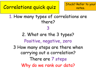 Edexcel Psychology (9-1) GCSE New Spec Unit 1 Lesson 13 - Raw Data, Ranking and Scatter Diagrams!