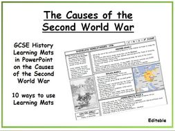 the individual causes of the second world war Causes of the second world war the second world war was caused by: a hitler's aims to unite german speaking people (using nsd which had been denied at the treaty.