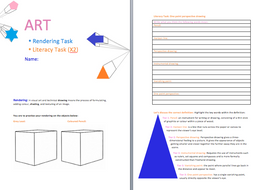 One point perspective | Literacy Task | Guidance Sheet | Literacy Test (with answers)
