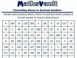 Binary to decimal worksheet pdf