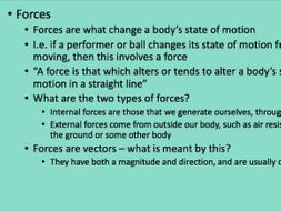 A-Level PE - Biomechanics - Forces