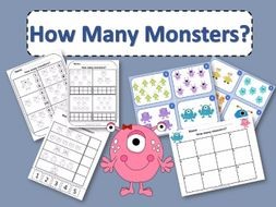 How Many Monsters Counting Activity Package
