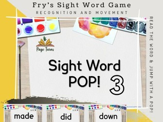 Fry's Sight Words PPT Game Top 50 [3]