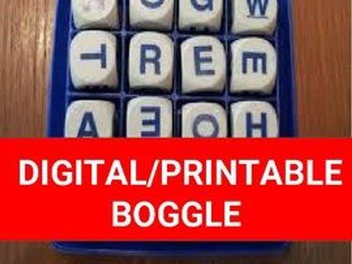 photograph relating to Boggle Printable named Electronic/Printable Boggle Template (Editable upon Google Slides)