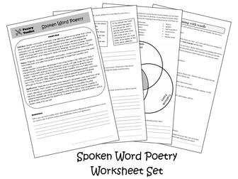 Spoken Word Poetry (Slam Poetry) Worksheets