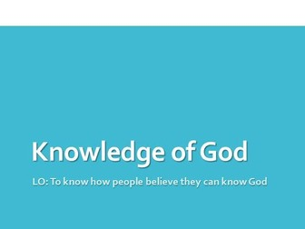 Knowledge of God's existence - OCR A Level Religious Studies
