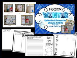 A Winter Flip Book Literacy Activity