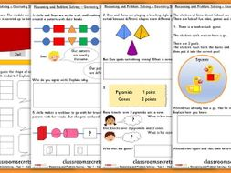 Geometry Shape Consolidation Year 1 Block 3 WRM Reasoning and Problem Solving