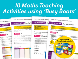 10 Maths Activities with 'Busy Boats'