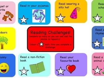 EYFS/KS1 Book Week Reading Challenges