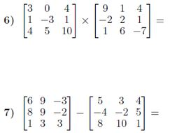Operations with matrices worksheet (with solutions) by