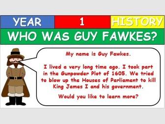 KS1 History - Guy Fawkes Lesson