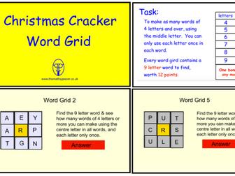 Christmas Cracker Word Grid (ppt version)