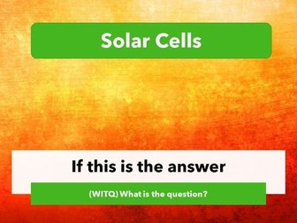 Solar- What is the question?