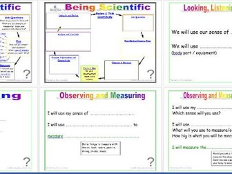 Being Scientific: Working Scientifically in Enquiry and Investigation - Carrying Out Investigations