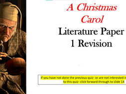 Online Revision Lessons - A Christmas Carol