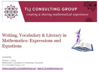 Writing, Vocabulary & Literacy in MS Mathematics: Expressions & Equations