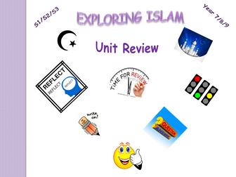 Exploring Islam - Unit review