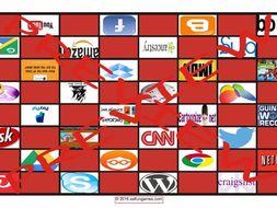Internet Sites Checker Board Game