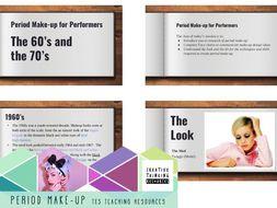 Period Make-up   60's & 70's PUNK HIPPIE DISCO MOD historical PP, Unit plan & handout