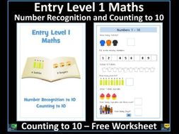 Entry Level 1 Maths: Counting to 10 FREE Worksheet - SEN Resource