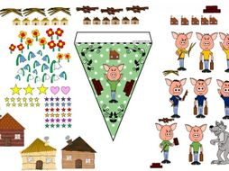 The Three Little Pigs Bunting Maker - Traditional Tales