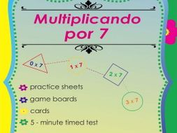Multiplicando Por 7 - Spanish Multiplication Math Games and Lesson Plans