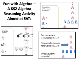Fun with Algebra – A KS2 Algebra Reasoning Activity - SATs preparation