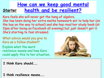 Resilience (PSHE or Tutor Time)
